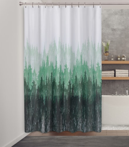 HD Designs® Pinehill Fabric Shower Curtain Perspective: back