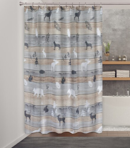 HD Designs® Underwood Fabric Shower Curtain Perspective: back