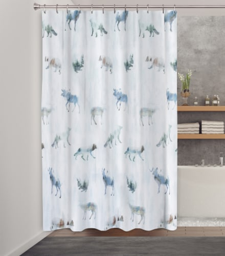 HD Designs® Forestville Fabric Shower Curtain Perspective: back