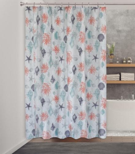 HD Designs® Sea Trove Fabric Shower Curtain Perspective: back