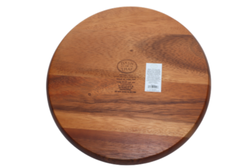 Dash of That™ Acacia Wood Round Plate Perspective: back