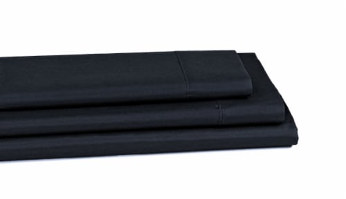 Everyday Living® 200 Thread Count Cotton/Polyester Pillow Cases - 2 Piece - Jet Black Perspective: back