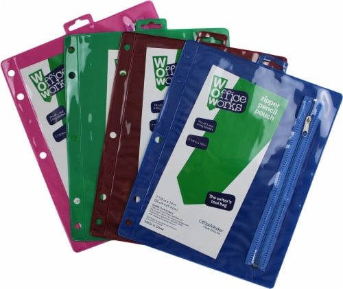 Office Works Zipper Pencil Pouch - Assorted Perspective: back