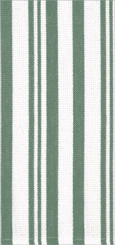 Dash of That Basketweave Towel Set - Green/White Perspective: back