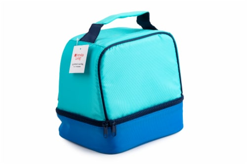 Everyday Living Colorblock Lunch Box - Blue Perspective: back