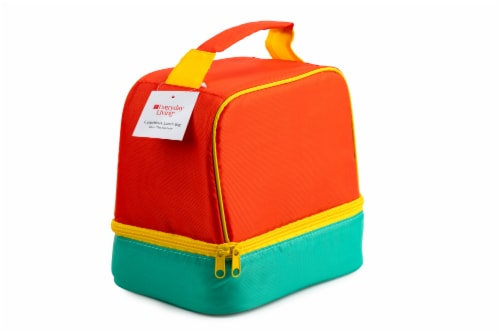 Everyday Living Colorblock Lunch Box - Orange Perspective: back