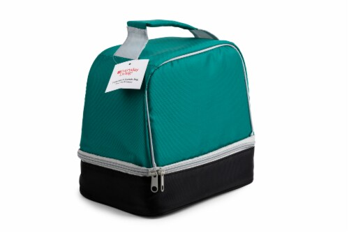 Everyday Living Colorblock Lunch Box - Green Perspective: back