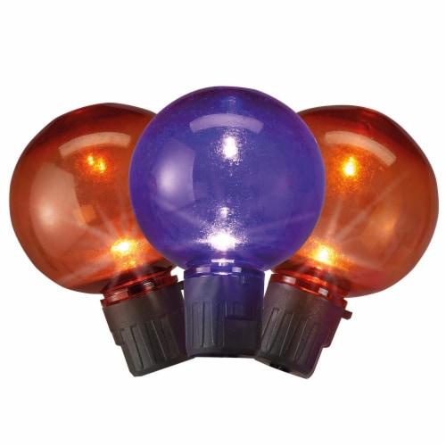 Holiday Home® 25 LED Flickering String Lights - Orange/Purple Perspective: back