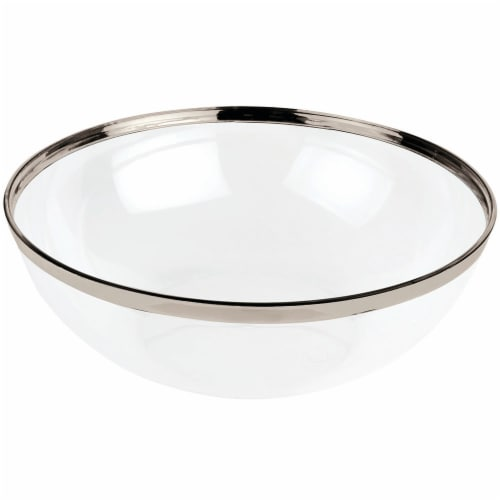 Kroger® Elevated Elegance Heavyweight Plastic Serving Bowl - Clear Perspective: back