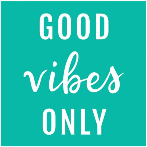 Kroger® Entertainment Essentials Good Vibes Only Beverage Napkins - Green Perspective: back