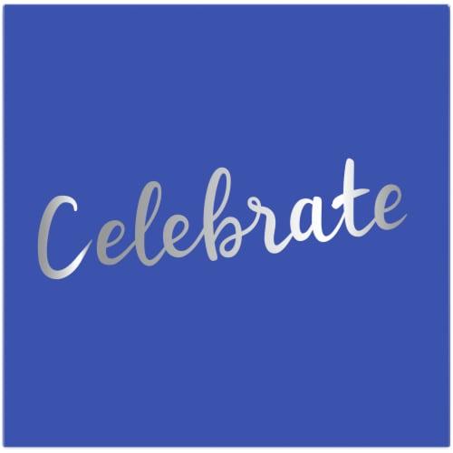 Kroger® Entertainment Essentials Beverage Napkins - 16 Pack - Celebrate Blue Perspective: back