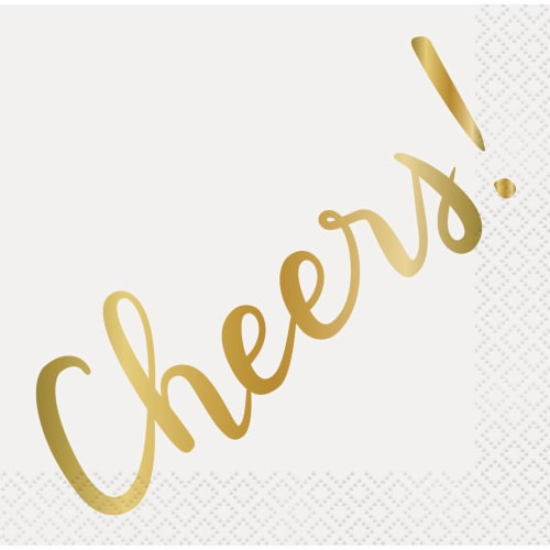 Kroger® Entertainment Essentials Cheers Beverage Napkins - White Perspective: back