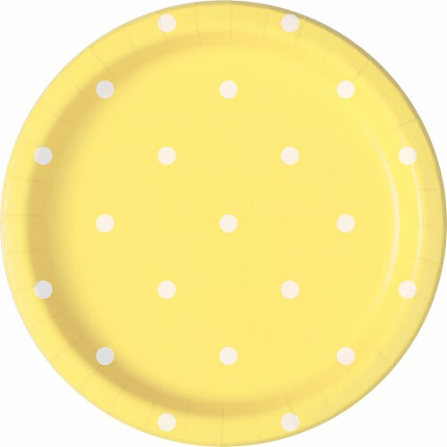 Kroger® Entertainment Essentials Polka Dot Paper Plates - Yellow Perspective: back