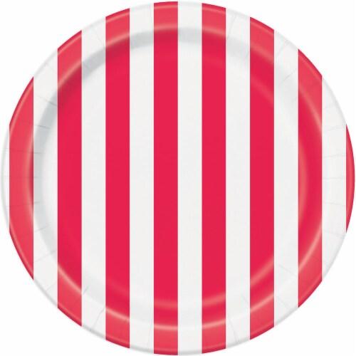 Kroger® Entertainment Essentials Simple Stripe Paper Plates - Pink Perspective: back