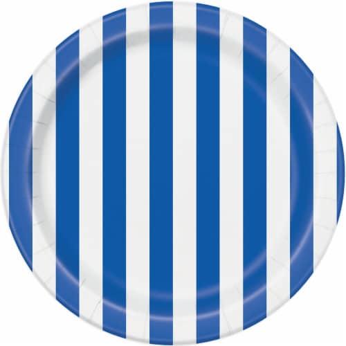 Kroger® Entertainment Essentials Simple Stripe Paper Plates - Blue Perspective: back