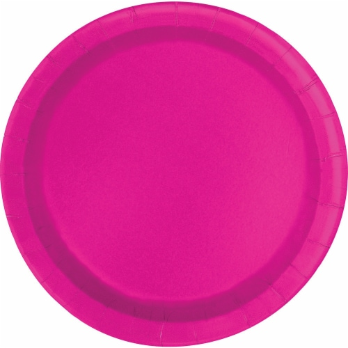 Kroger® Entertainment Essentials Paper Plates - Shocking Pink Perspective: back