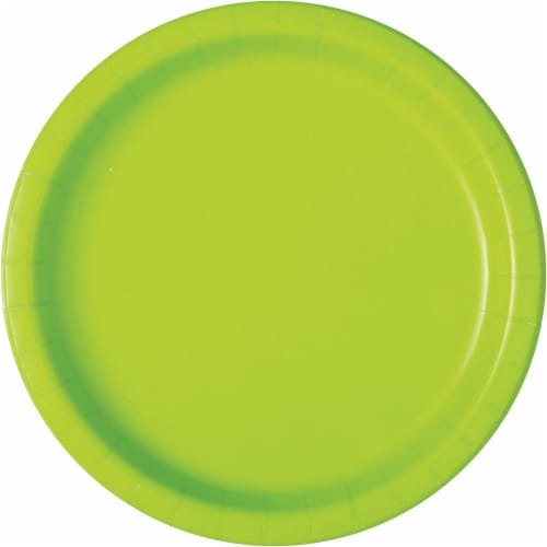 Kroger® Entertainment Essentials Paper Plates - 8 Pack - Lime Green Perspective: back