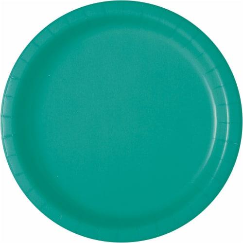 Kroger® Entertainment Essentials Paper Plates - Teal Perspective: back