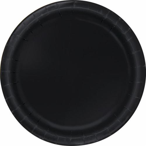 Kroger® Entertainment Essentials 9-Inch Paper Plates - Black Perspective: back
