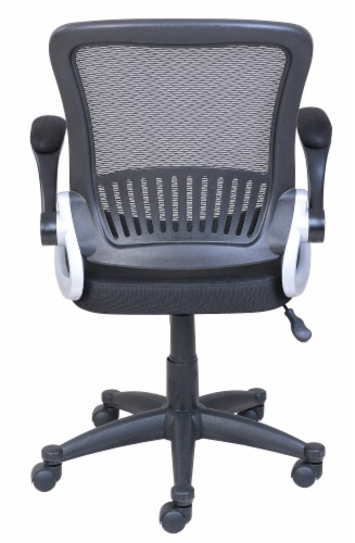 HD Designs Soho Mesh Manager Chair - Black/Silver Perspective: back