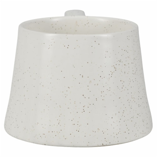 Dip Ceramic Dotted Mug - White Perspective: back