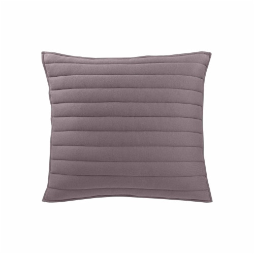 Everyday Living Jersey Knit Quilt Set - Dark Gray Perspective: back
