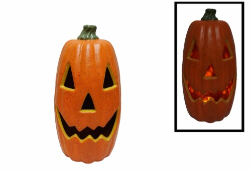 Holiday Home® Light Up Tall Antique Pumpkin Decoration Perspective: back