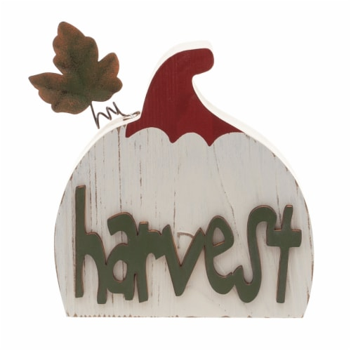 Holiday Home Harvest/Fall Pumpkin Mini Sign - Assorted Perspective: back