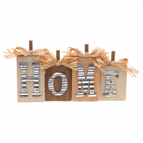 Holiday Home Galvanized & Wood Mini Sign - Assorted Perspective: back