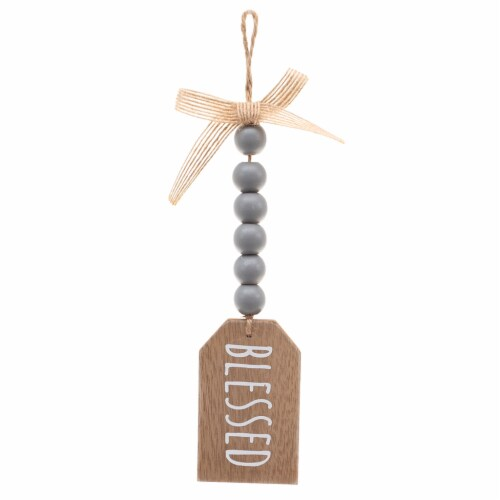 Holiday Home Mini Sign with Beads - Assorted Perspective: back