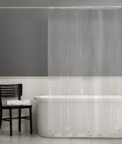 Everyday Living® 4-Gauge Shower Curtain Liner - Clear Perspective: back