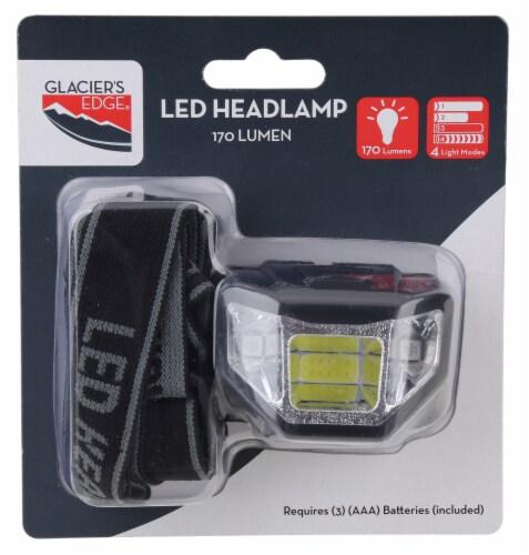 Glacier's Edge LED Headlamp - Black Perspective: back