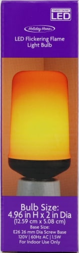 Holiday Home® LED Flickering Flame Light Bulb Perspective: back