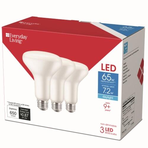 Everyday Living® 7.2-Watt(65-Watt) BR30 LED Light Bulbs Perspective: back