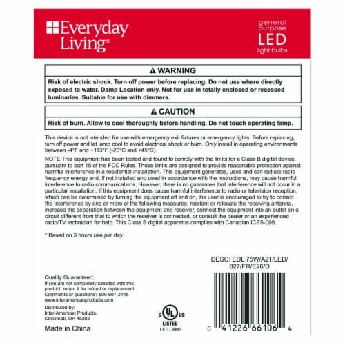 Everyday Living® 12.2-Watt (70-Watt) A21 LED Light Bulbs - Soft White Perspective: back