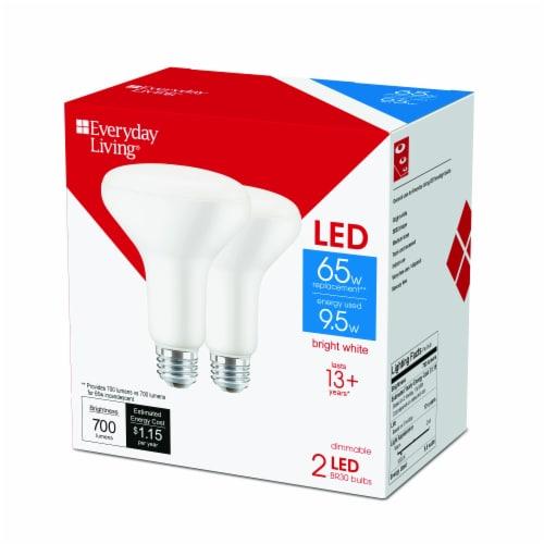 Everyday Living® 9.5-Watt (65-Watt) BR30 Indoor LED Floodlight Bulbs Perspective: back