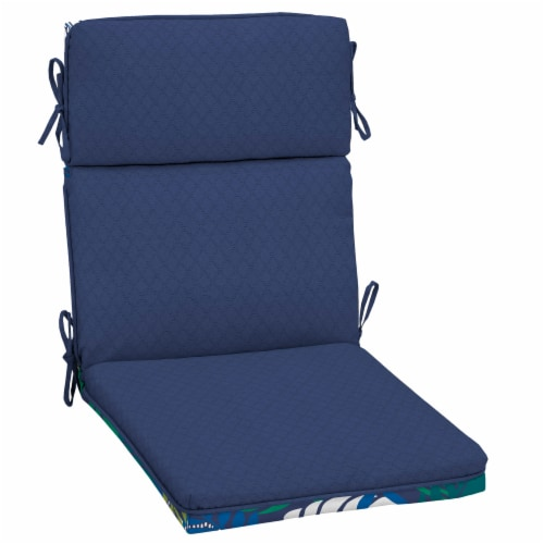 HD Designs Outdoors Replacement Cushion - Plum/Blue Perspective: back