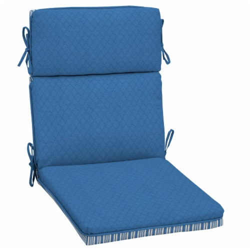 HD Designs Outdoors Ticking Stripe Replacement Cushion - Blue Perspective: back