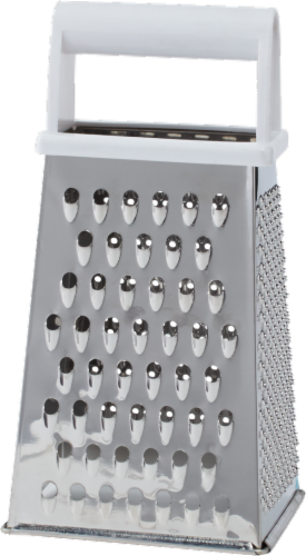 Everyday Living® Stainless Steel Grater with Plastic Handle - Silver Perspective: back