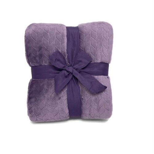 HD Designs Velvet Blanket - Purprle Perspective: back