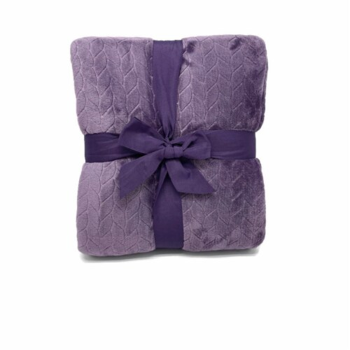 HD Designs® Etched Blanket - Purple Perspective: back