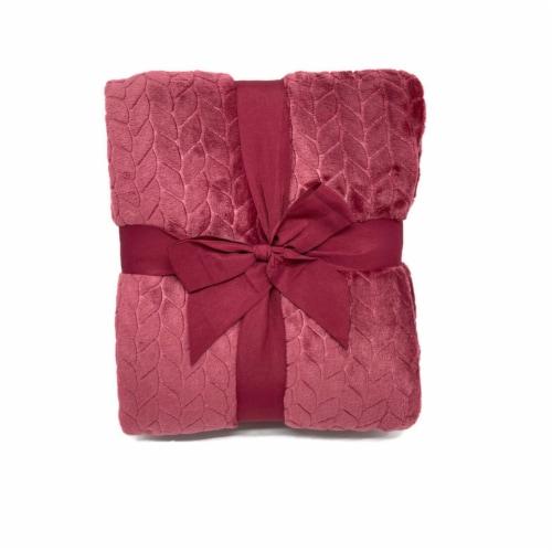 HD Designs® Velvet Etched Blanket - Red Perspective: back