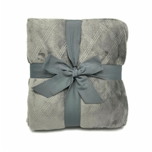 HD Designs® Etched Blanket - Gray Perspective: back
