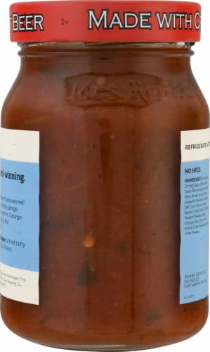 Mrs. Renfro's® Medium Hot Texas Red Amber Ale Craft Beer Salsa Perspective: back