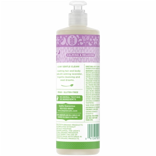 Simple Truth Organic™ Lavender Vanilla Night Time Baby Wash Perspective: back