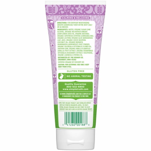 Simple Truth Organic™ Lavender Vanilla Night Time Baby Lotion Perspective: back