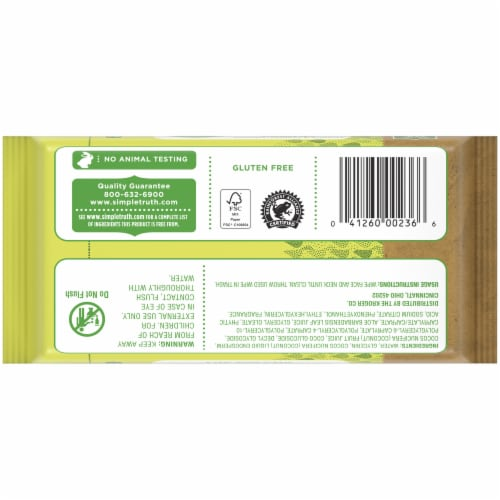 Simple Truth™ Coconut Water Sensitive Skin Facial Wipes Perspective: back