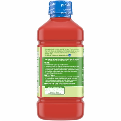 Comforts™ Cherry Punch Flavored Advantage Care Electrolyte Solution Perspective: back