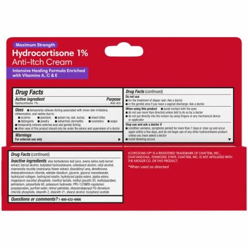 Kroger® Maximum Strength Hydrocortisone Anti-Itch Cream Perspective: back