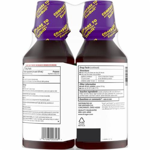 Kroger® EZ Nite Sleep Berry Flavor Nighttime Sleep Aid Liquid Perspective: back